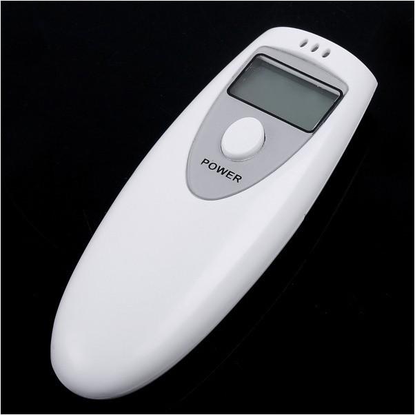 Hot White Portable LCD Digital Breath Alcohol Analyser Breathalyzer Tester(China (Mainland))