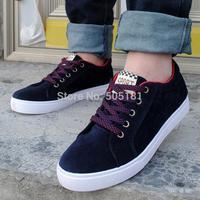 2014 summer Size 39-44 Mens original skateboard outdoor running shoelace tenis canvas sneakers espadrilles men 4 colors KR729