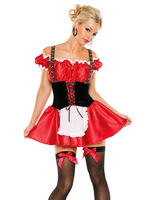 2014 New Hot Red Bavarian Girl Sexy Costume Novelty Halloween Costumes For Women Outfit 2182