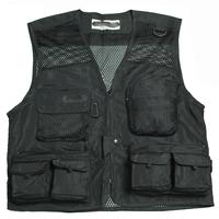Free shipping quick-drying men fishing vest  photographer vest breathable cotton mesh multi pocket  3 colors 4 sizes