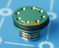 KUGA double O-ring Ball bearing piston head 8 holes (High-End Version) for Ver.2/3 Airsoft AEG Gearbox