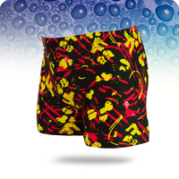 New 2014 Polyester Spandex Acrylic Floral swimwear sexy swimming trunks shorts boxers sports suit men swimsuit ,l,xl,xxl