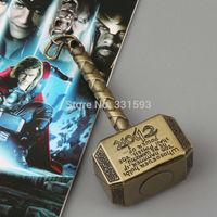 1pcs  Superhero Thor's Hammer Stainless Steel Keychain Metal Figure Toy Pendant Fashion Key chain for Men Women ANPD1294