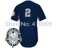 2014 New York Youth Baseball Authentic Derek Jeter Road Cool Base BP Jersey w/Derek Jeter Commemorative Retirement Patch