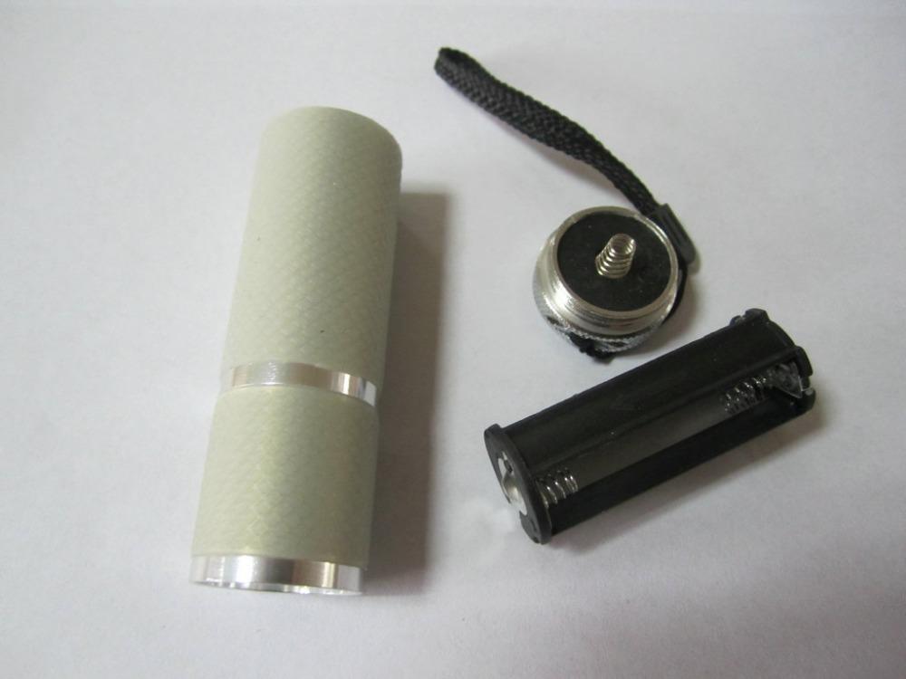 Free Shipping 1pcs High Quality Grey Color Mini UV Gel Acrylic Curing Lmap Nail Art Led UV Lamp,UV light Nail Dryer Tool Set(China (Mainland))
