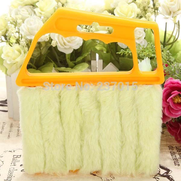 New Microfibre Venetian Blind Blade Cleaner Window Conditioner Duster Clean Brush Free Shipping(China (Mainland))