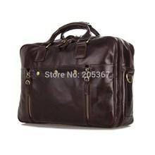 J.M.D New Arrival Vintage Leather Briefcases Men Messenger Bag Handbag On Sale # 7201C(China (Mainland))