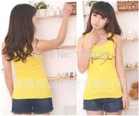 Free Shipping New 2014 Summer Hot Women's Button Sleeveless T-Shirt Tanks Top Casual Sport Condole Belt Vest TANKS