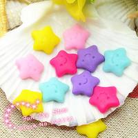 kawaii polymer clay handmade smile star Cabochon Flat back decoration free shipping 50pcs/lot 10mm