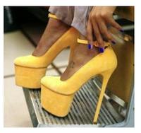 New Arrival Women Pumps Sexy Suede Genuine Leather Platform Shoes 16cm Ultra High Heels Sandals Brand Dress Wedding Women Shoes