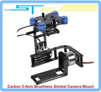 2014 New Carbon 3-Axis Brushless Gimbal Camera Mount W/ 3 Motors Controller for Gopro 2 3 DJI Multicopter FPV Drop shipping