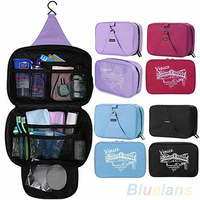 Casual Hanging Waterproof Travel Toiletry Wash Makeup Storage Cosmetic Organizer makeup Bag 059P