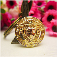 RS5307 free shipping 50pcs,gold metal button in Gold color,World famous classic brand buttons, garment accessories DIY materials