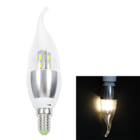 [Seven Neon]Free DHL shipping 10pcs two years warranty flame tip shape E14 8leds 5630 SMD 4W light led candle bulb light