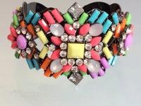 Newst jewelry For Women Colorful crystal  bangles Fashion bracelets & bangles Vintage bracelets For women 2014