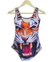 free shipping Bikini S Bodysuit sexy fashion one piece swimwear bathing suits Printing tiger -YF002