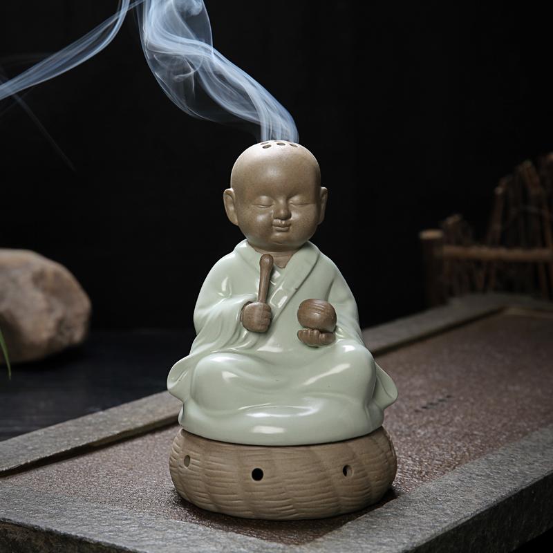 Ming und qing klassischen figuren keramik aroma herd kreative haushaltsgeräten, handwerk ornamente buddhistischen weihrauch muyu kozo