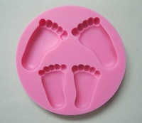 Beautiful Baby foot shape Silicone 3D Mold Cookware Dining Bar Non-Stick Cake Decorating fondant soap mold