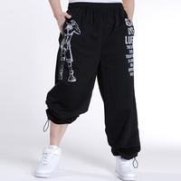 Fat men's plus size clothing loose casual pants hiphop wei pants sports plus size plus size fat cotton trousers