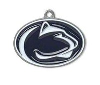 NCAA  free shipping 30pcs a lot rhodium plated enimal single-sided Penn State Nittany Lions Big 10 sports charms
