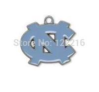 NCAA  free shipping 30pcs a lot rhodium plated enimal single-sided University of North Carolina Tar heel ACC sports charms