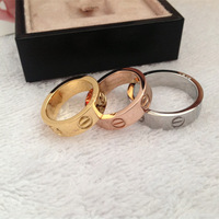Free shipping good quality  fashion stainless steel 6mm ring   3 colors-6