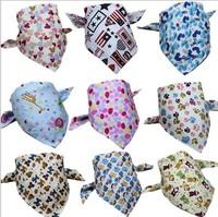 New Arrival Wholesale 100pcs/lot Baby Kid Toddler Bandana Baby Bibs Saliva Towel Dribble Triangle boy girls cotton Head Scarf