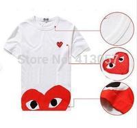 fashion Cotton T-shirt COMME DES GARCONS play shirt male women's shirts