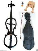 4/4 New Electric Cello Silent Powerful Sound Ebony Part Solid Wood