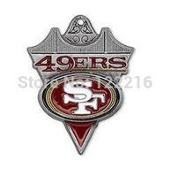 NFL free ship 30pcs a lot rhodium plated enimal single-sided San Francisco 49ers team logo NFC football charms
