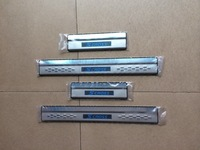 Free shipping Stainless Steel Blue LED Door Sill Scuff Plate For new 2014 SUZUKI SX4 hatachback Scross S CROSS