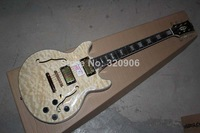 high quality hot selling mahogany Body ,maple front and back JAZZ ES335 beige color electric guitar