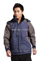 2014 Brand new waterproof windproof breathable men outdoor jacket camping skiing Coat hiking jacket coats man Drop shipping