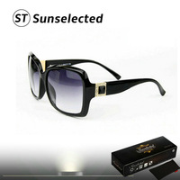 Free dropshipping 2014 New Women's Vintage Sunglasses Brand Designer w/Dimond Square Shape Eyewear Summer Coating Sunglass sg245