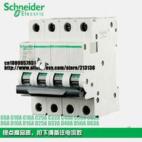 Schneider Multi9 miniature circuit breaker C65 C65N 4P D2A D6A D10A D16A D20A  D25A D32A D40A D63A