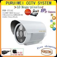 "Special offer 1/4""CMOS 1280x720 HD 3*LED Arrays ONVIF IR Cut Night vision 720P Mega pixel outdoor/indoor Network IP Camera!"