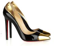 New 2014 spring fashion brand red bottom ultra high heels woman pumps and women's platform thin heels Dress shoes