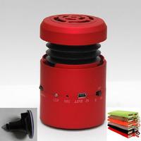 Mini Bluetooth subwoofer speaker Hamburger vibration speaker 10W  with microphone U-disk port fm radio + sucker + carry bag