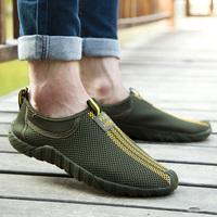 2014 summer new shoes lazy shoes breathable mesh shoes men shoes sandals