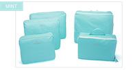 Free & Drop Shipping! High Quality 5PCS/Lot Travel Storage Bag in Bag, Nylon Clothes Underwear LuggageTravel Bag Organizer Set