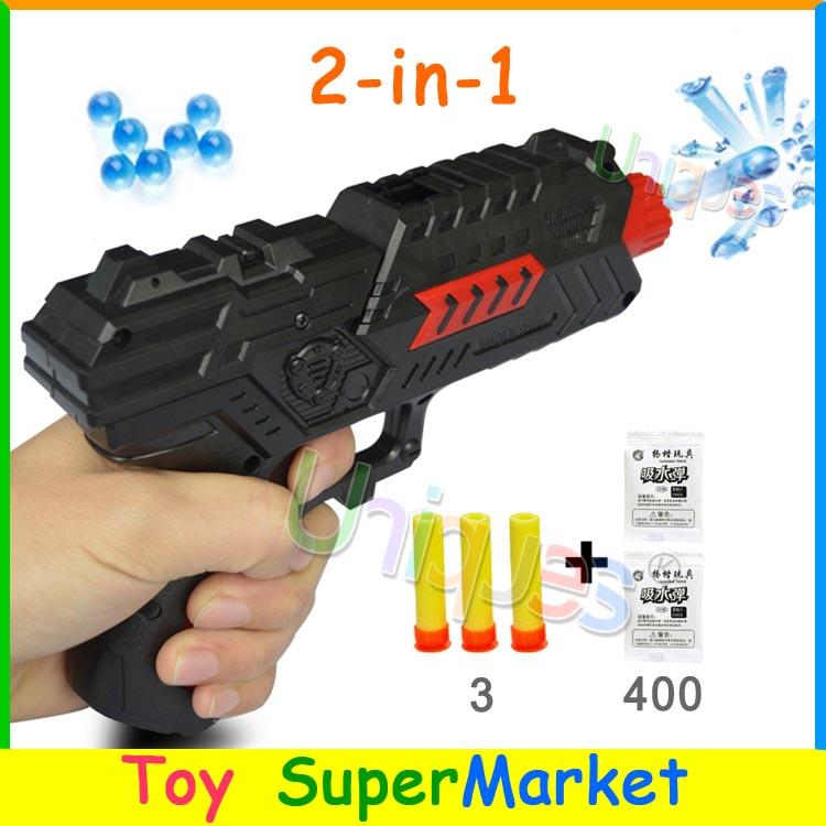 Paintball Gun Pistol & Soft Bullet Gun Plastic Toys CS Game Shooting Water Crystal Gun 2-in-1 Nerf Air Soft Gun Airgun(China (Mainland))
