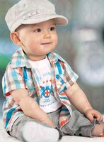hot offer summer boy clothing set with shir t+ pants of sports clothing garment suit for  children clothes set
