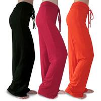 2014 Plus Size S-4XL Modal Summer Yoga Pants Women Slim Fitness Woman Practicing Dance Cloth Elastic Waist Solid Color 5 Colors