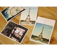 256pcs=8set Scenery style postcard rhythm of life/Birthday Card/Greeting Card/Gift Card/Fashion Gift