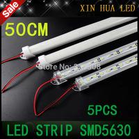 5pcs 0.5m 5630 LED ceiling Bar 12V Hard Rigid Strip Bar lamps  Light 36leds CE RoHS Aluminium Alloy Shell Housing free shipping