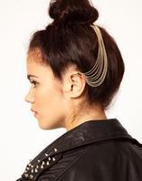 Fashion exaggerated tassel ear clip hair hairpin hair accessories  CF050