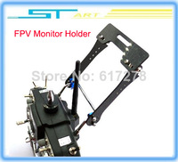 Free shipping High Quality Carbon Fiber FPV Monitor Mount Holder/Display Mounting Bracket  folding  for Transmitter helikopter
