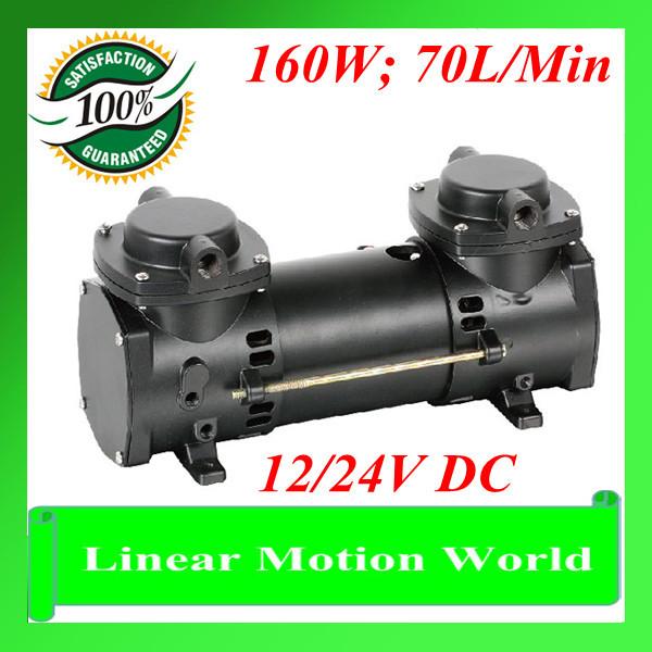THOMAS 160W Double Diaphragm Vacuum Liquid Pump 12/24V DC 70L/Min OIL-LESS TESTED Vacuum Pump(China (Mainland))