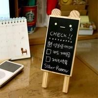 100pc Lovely & Useful Wooden Bear Mini Blackboard Message Memo Note Holder Board
