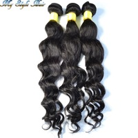 peruvian virgin hair body loose wave extensions mixed length 4 or 3pcs/lot,unprocessed human hair curly weave bundles,H&J hair